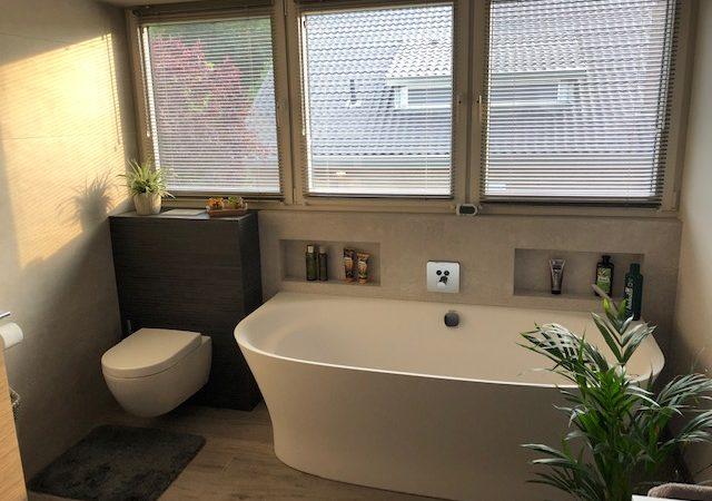 Badkamer opgeleverd